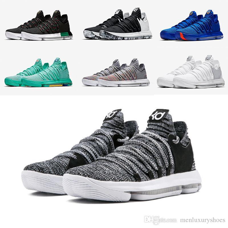 meet c0217 31561 Kevin Durant X Zoom KD 10 Oreo Hyper Turquoise Still KD Blinders Finals  Aunt Pearl Mens Basketball Running Designer Shoes Trainers Sneakers