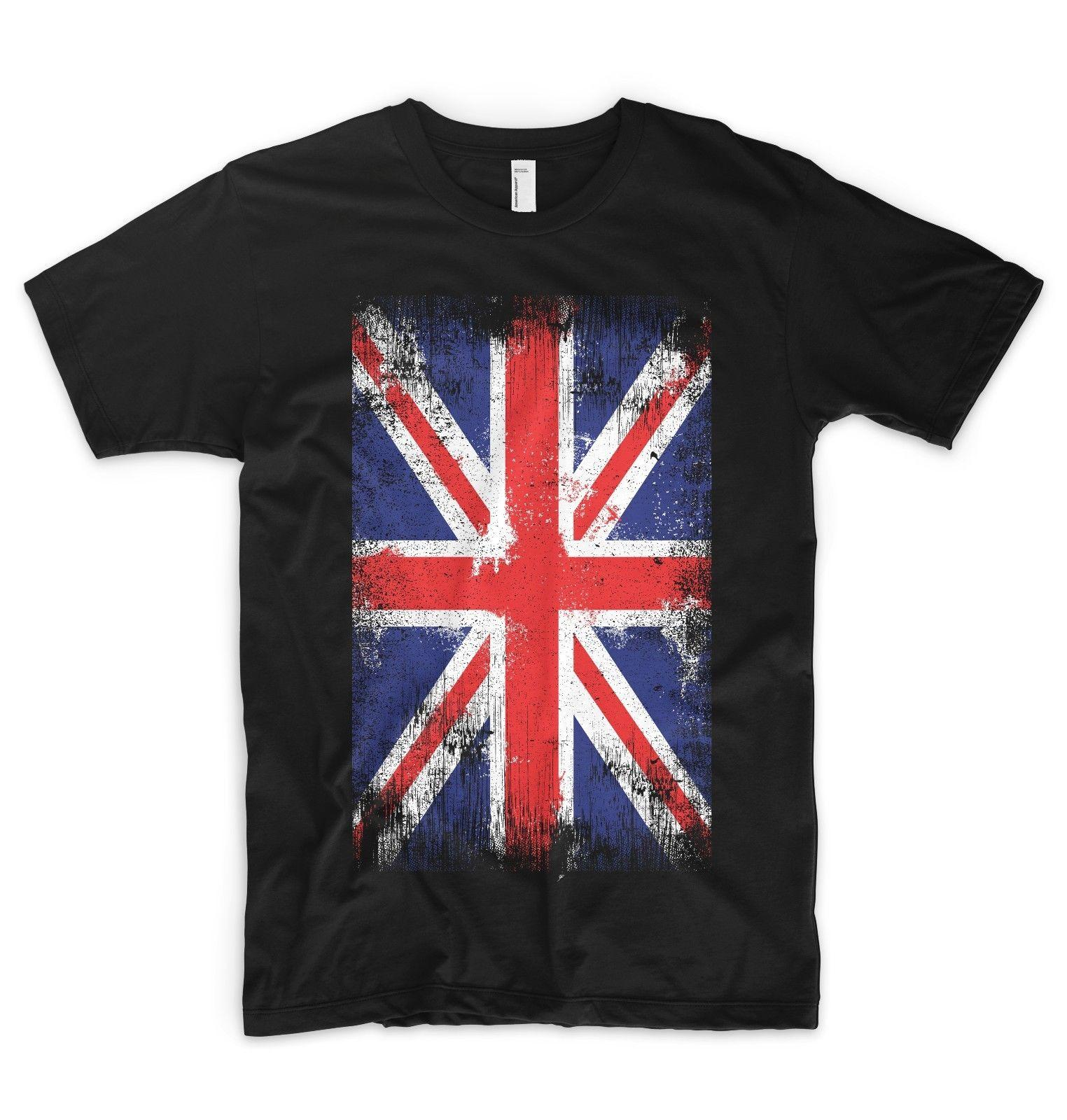 Union Jack T Shirt UK British Flag Great Britain United Kingdom England  London Trendy T Shirts For Men Shirts Funny From Shop4ever 00a672da65c2