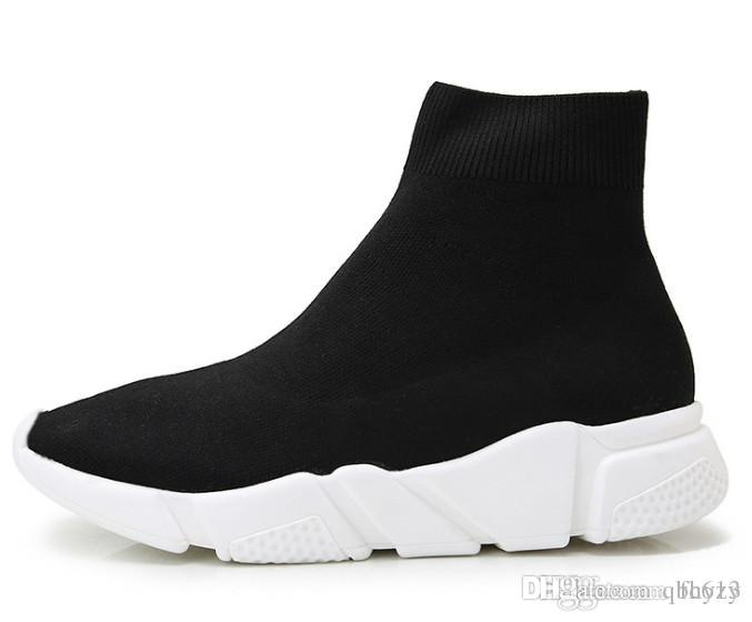 classic Speed Trainer boots Socks Stretch Knit High Top Trainer Shoes Cheap Sneaker boots Black White Woman Man Couples Casual Shoes Boots