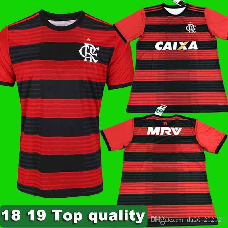 444f56de2b60f Tailandia 18 19 Flamengoee Jersey De Fútbol 2018 Maillot De Pie Zico Elano  Hernane Diego Conca Guerrero Camiseta De Fútbol Camiseta De Futbol Por ...