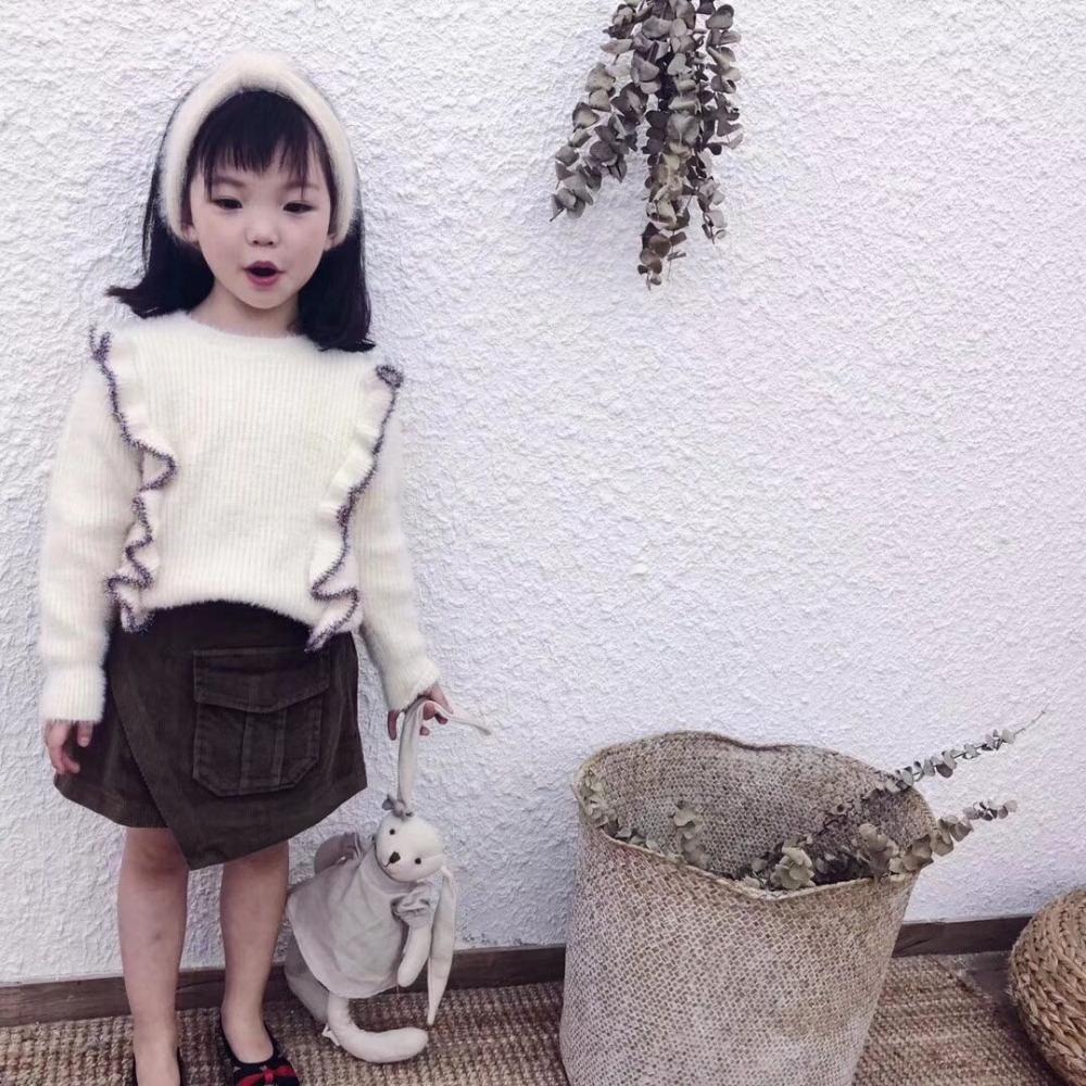 New Autumn Style Children Baby Solid Ruffles Sweater, Baby Girls ...