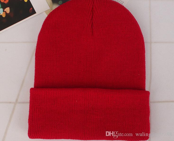 23 Farben Classic Herren Damen Damen Slouch Beanie Strick Oversize Beanie Totenkopf Mütze Caps Liebhaber Kintted Cap Solid Beanie Caps