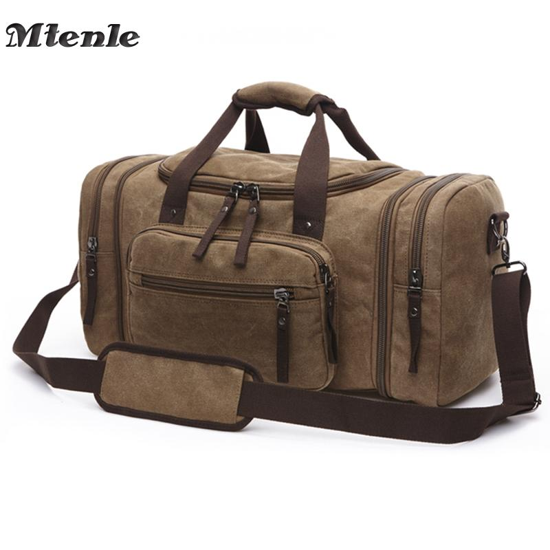 MTENLE Men Travel Bag Large Capacity Hand