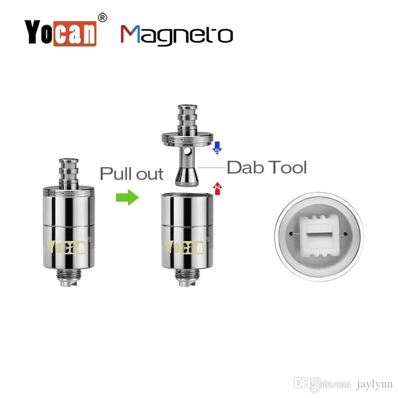 Yocan magneto kit cera caneta seco erva vaporizador 1100mAh bobina magnética de cerâmica Cap construído com Dab ferramenta