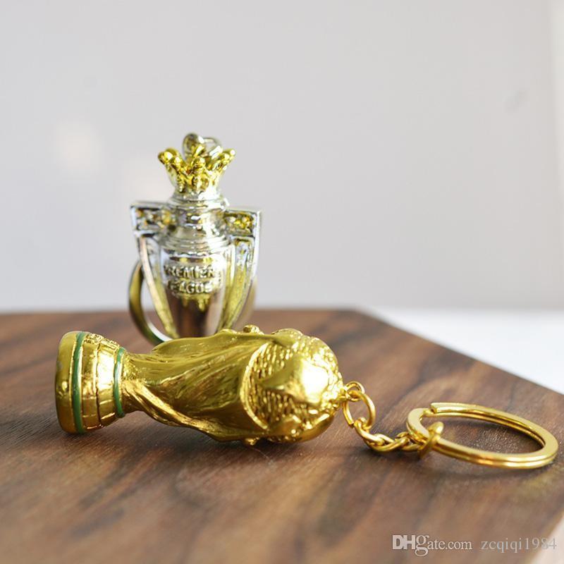 2018 Russia Coppa del Mondo Portachiavi Hercules Portachiavi in metallo color oro Coppa europea Coppa portachiavi i fan