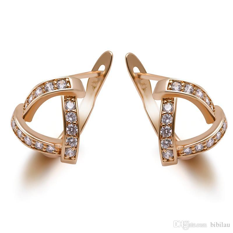 c801168f7 MGFam 594E 18k Gold Plated Triangle Hoop Earrings For Women Fashion Jewelry  AAA+ Cubic Zircon Good Quality CZ Hoop Earrings 18k Hoop Earrings Earrings  for ...