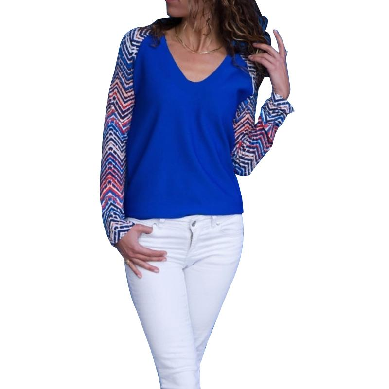 2e3413976 Casual Long Sleeved Printed V Neck Shirts Plus Size Womens Vintage  Pullovers Basic Tops Autumn Fashion Shirts WS9270U Online with  34.68 Piece  on Modeng03 s ...