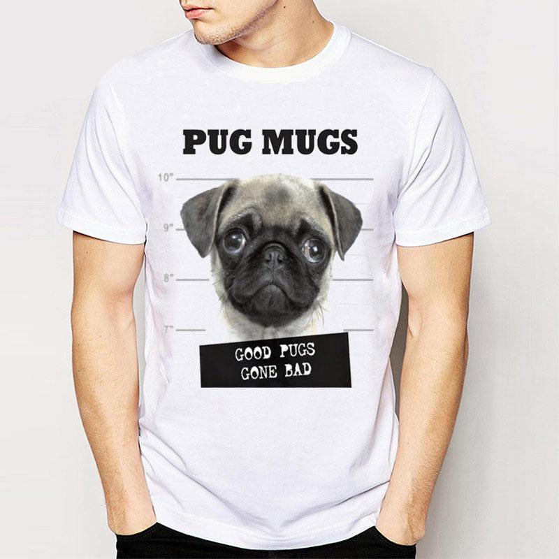 480dcffc Men Short Sleeve Funny Cartoon Pug T Shirts Buy Cool T Shirts Funky Tee  Shirts From Amesion75, $12.08| DHgate.Com