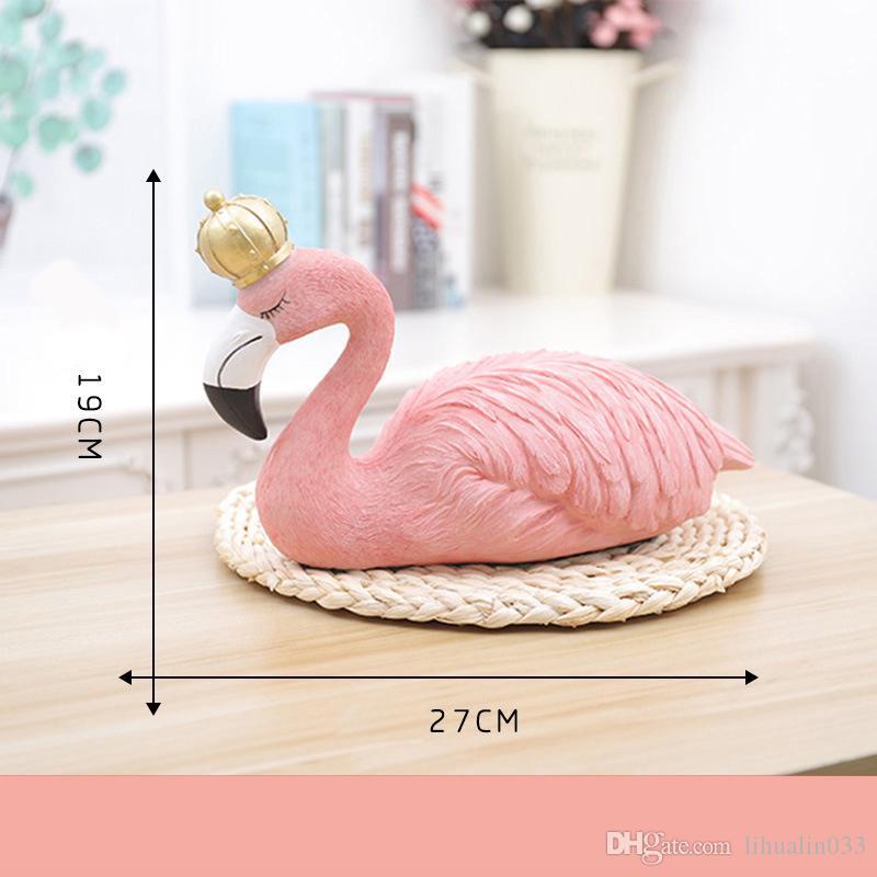 İskandinav Reçine Flamingo Craftwork Figürler Ev Dekor Reçine Mefruşat ürünleri Makaleleri Reçine Flamingo El Sanatları