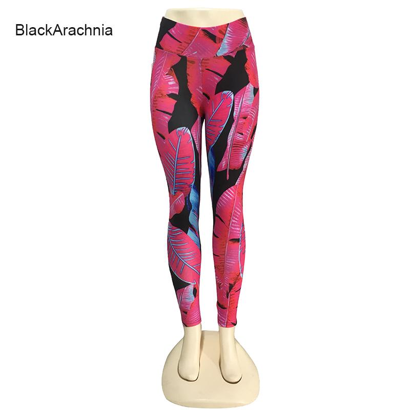 9c881ff33ee 2019 BlackArachnia Women High Waist Hips Push Up Sexy Yoga Leggings  Tropical Red Leaves Printed Sportswear Breathable Cozy Yoga Pants From  Huanbaoxin