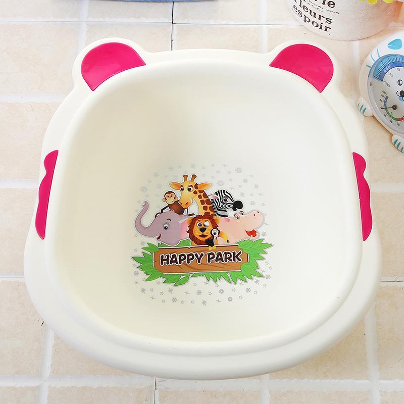 2018 Household Washbasin Baby Bath Basin Cartoon Cute Babies Wash ...