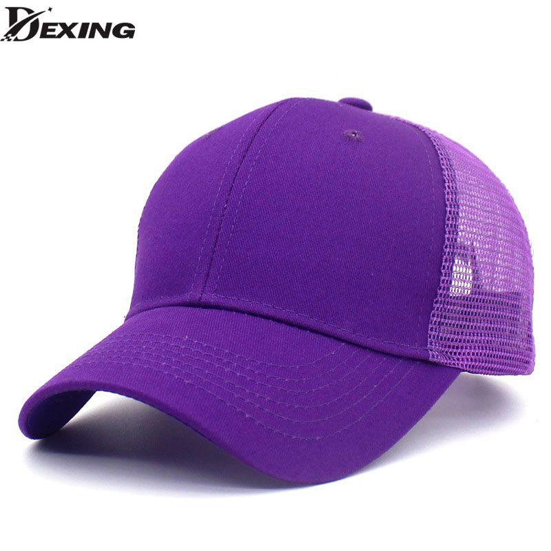 ec7dbda31d1 Snapback Mesh Baseball Cap Summer Outdoor Sport Hats For Men Women ...
