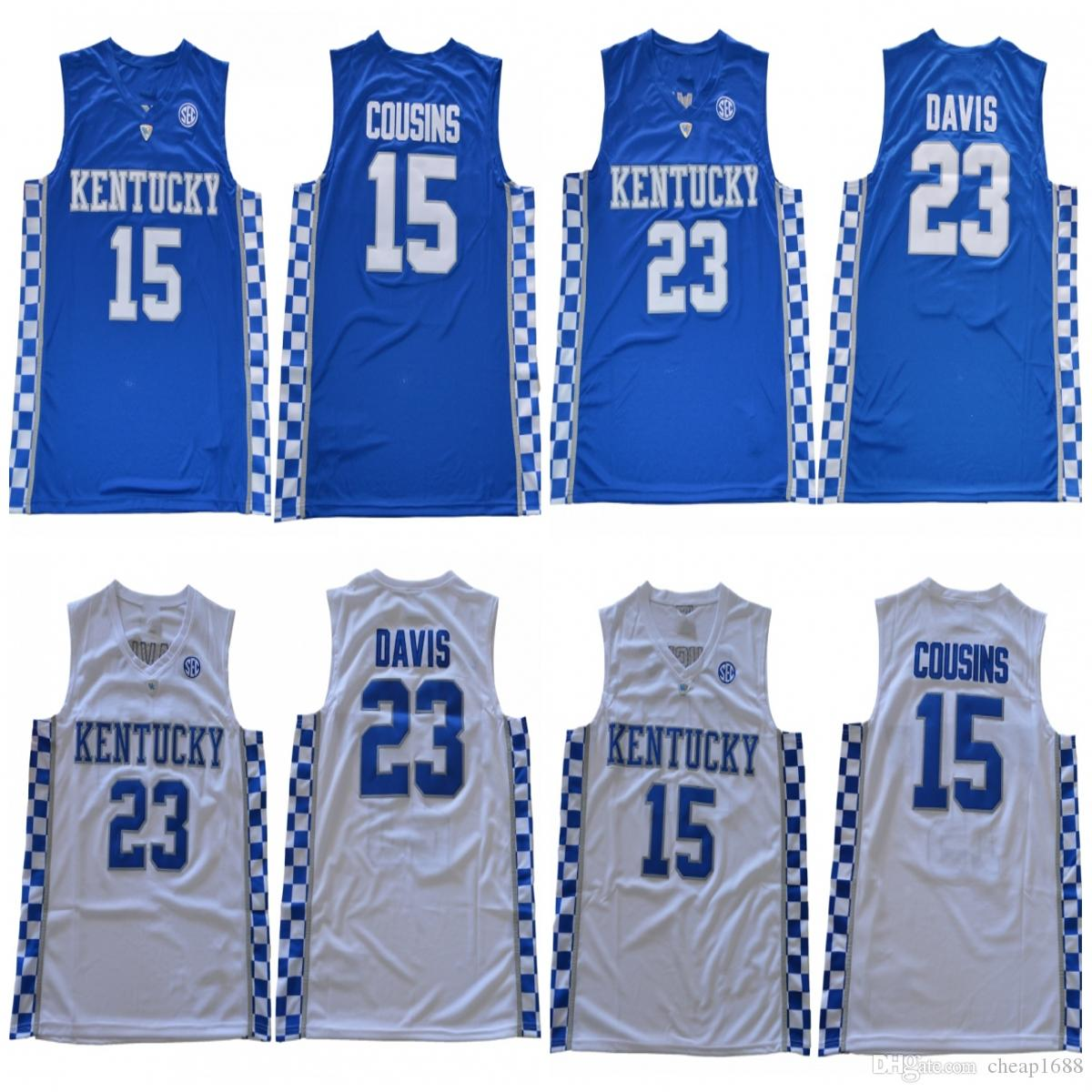 d3e17e52ed7 ... sweden 2019 ncaa kentucky wildcats 23 anthony davis 0 demarcus cousins  white blue black stitched college