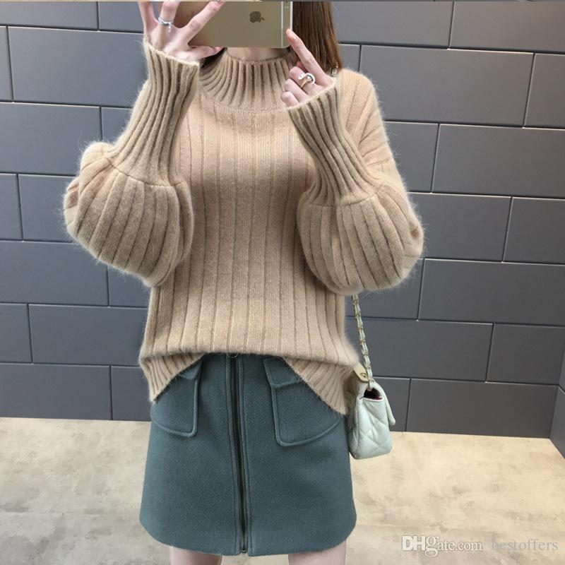 e4ee251100 Hot Sale Turtleneck Women 2018 Fall Winter Warm Knitted Sweater .