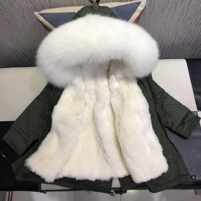 dde00b354e63 Winter Jackets Real Fur Children Thicken Warm Parka For Kids Girls ...
