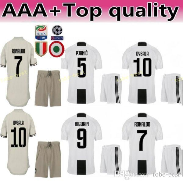 9ab7779c3 2019 2018 2019 FC Juventus Soccer Serie A Jersey Set Men 19 Leonardo  Bonucci 3 Giorgio Chiellini 14 Blaise Matuidi Football Shirt Kits Uniform  From Tobe ...