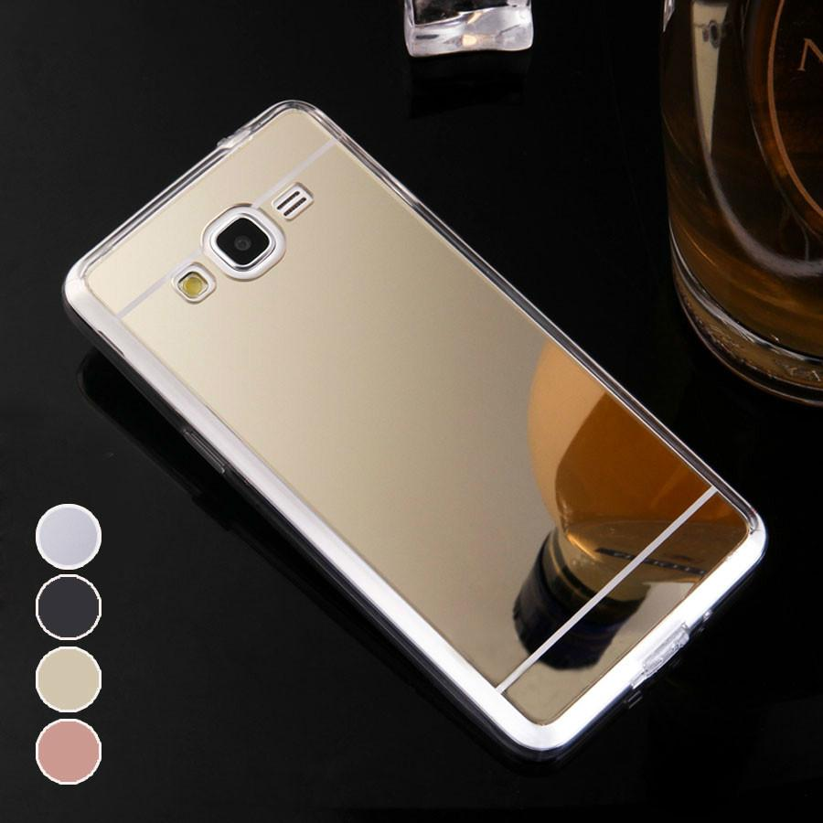 For Samsung J2 Prime Case Mirror Plating Galaxy G532 Cover Luxury Silicone Protective Shell Phone Bag Cell Cases