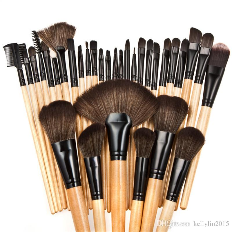 Professional Makeup Brushes Sets 24 Black Pink Full Cosmetic Kit Make up Brushes for Face Powder Eye shadow Foundation brush