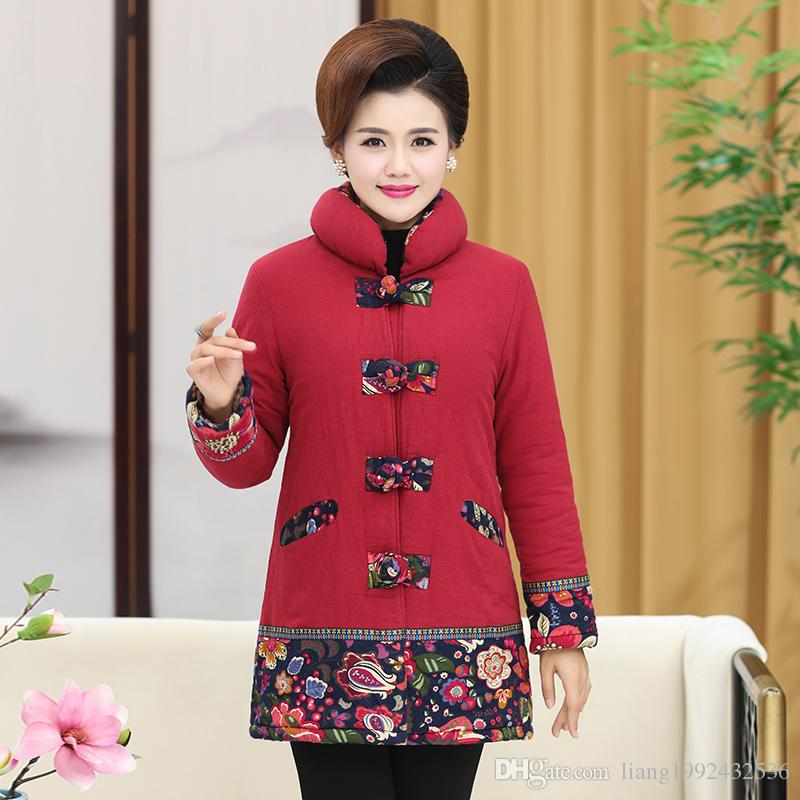 2018 Winter Wear Elderly Women S Long Term Grandmother Tang Suit