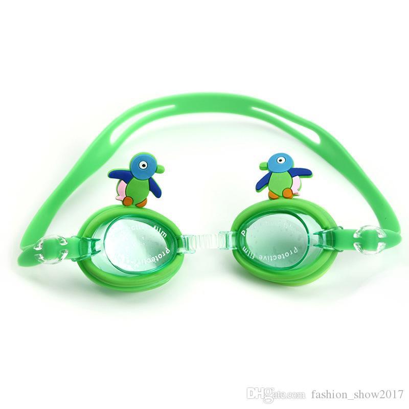 لطيف الصيف الرياضات المائية الأطفال الكرتون السباحة نظارات للماء ومكافحة الضباب فوق البنفسجية حماية نظارات السباحة الغوص