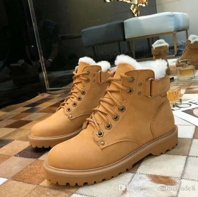 c961bcf1b19 New Hot Branded Women Boots Winter Warm Flat Bottom Short Boots Comfortable  Lace Up Dress Ankle Shoes Football Boots Womens Boots From Onlinetrade8