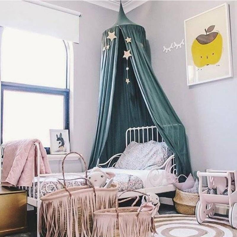 Well-Educated Hot Sale Kid Baby Canopy Bed Cover Mosquito Net Curtain Bedding Round Dome Tent Cotton Crib Netting Baby Bedding Cover Mosquito Baby Bedding