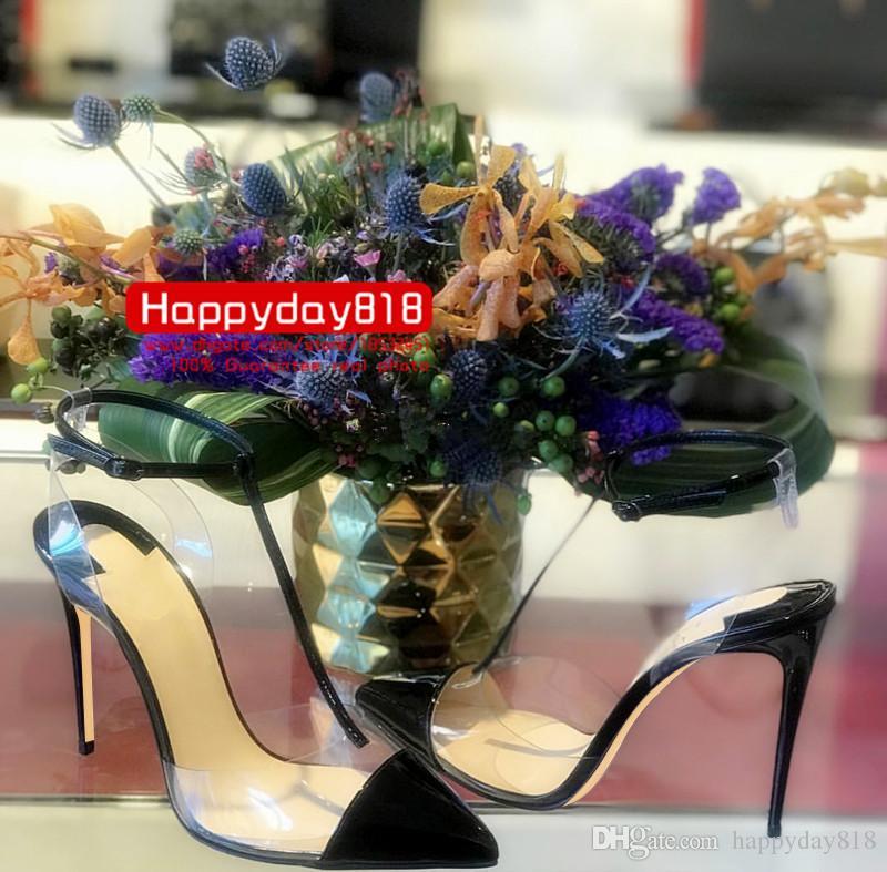 Livraison gratuite 120mm mode femmes pompes blanc en cuir verni pointe toe talons hauts Slingback T strappy chaussures bottes en cuir véritable