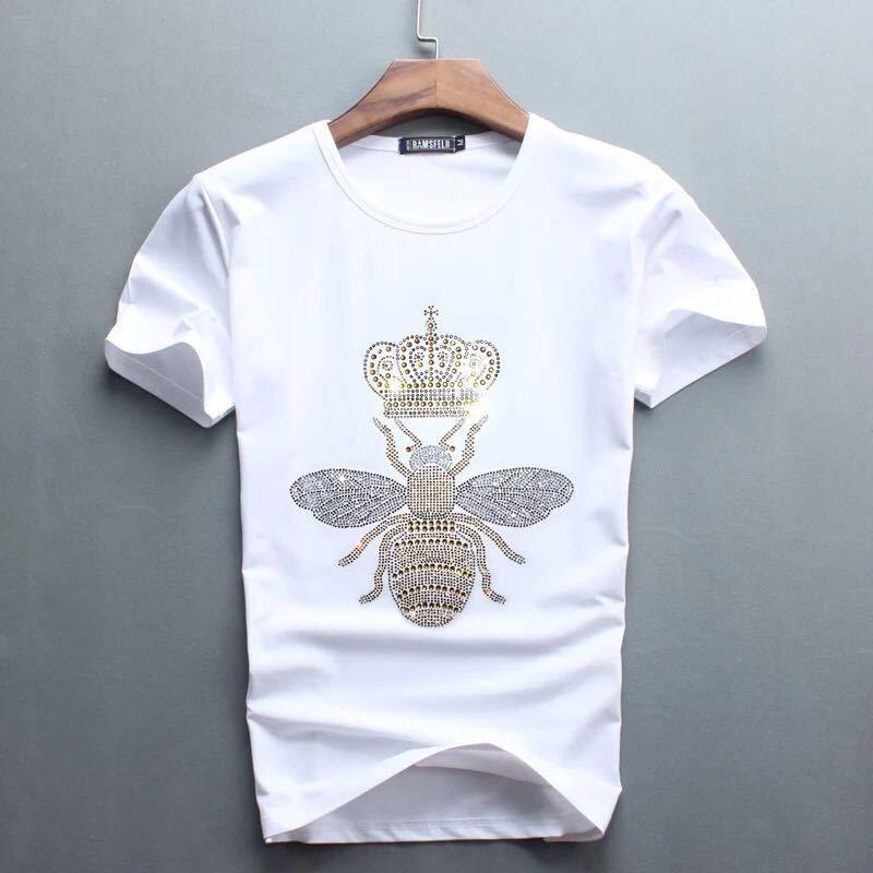 780b488dfec7a 2018 New Brand Women Rhinestone T Shirt Bee Blingbling Crystal Women Top  Tees Plus Size Short Sleeve Tops For Summer Shirt Designs Best T Shirts  From ...