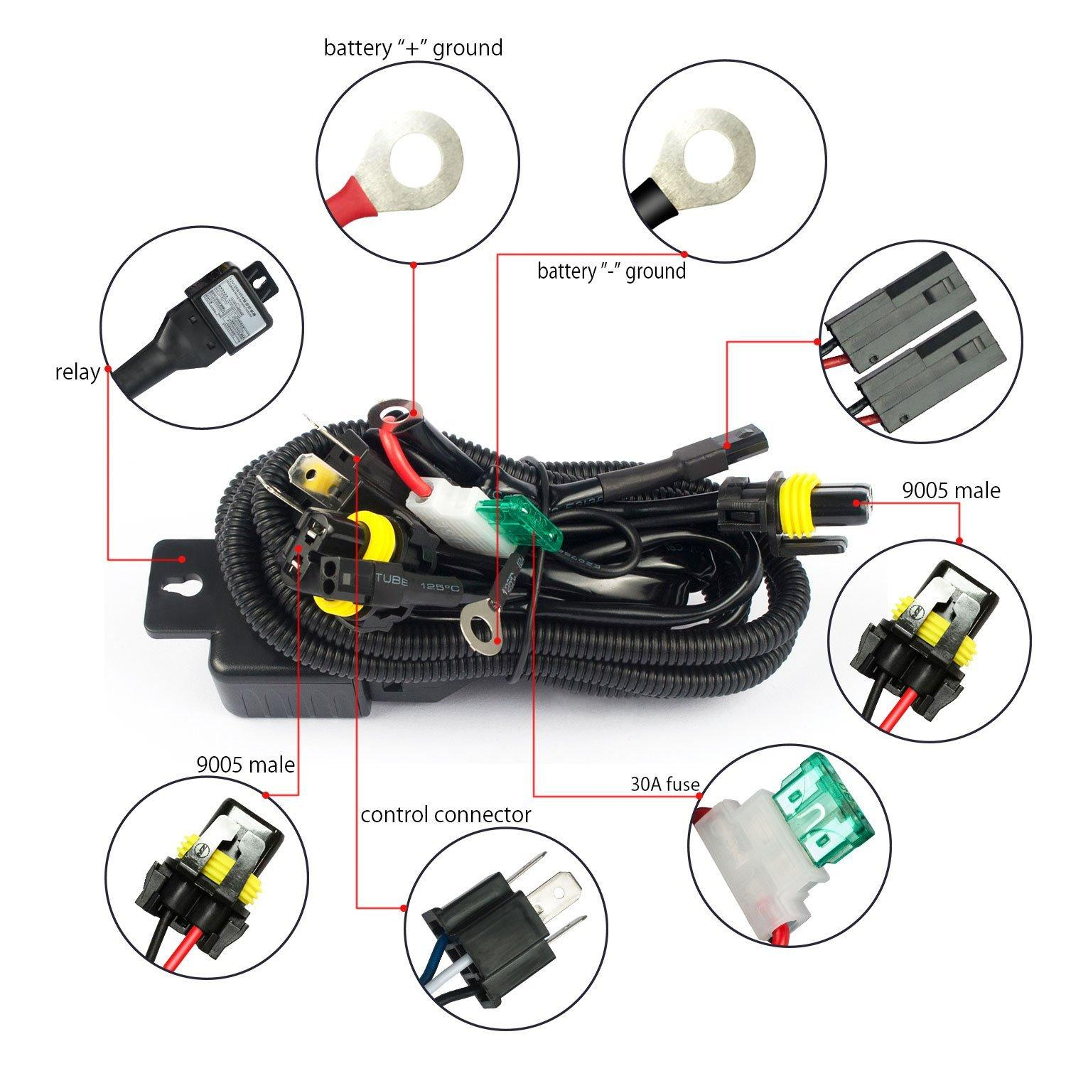 Remarkable H4 Hid Relay Harness Hid Xenon Kit H4 3 H13 3 9004 3 9007 3 Bixenon Wiring Digital Resources Ommitdefiancerspsorg