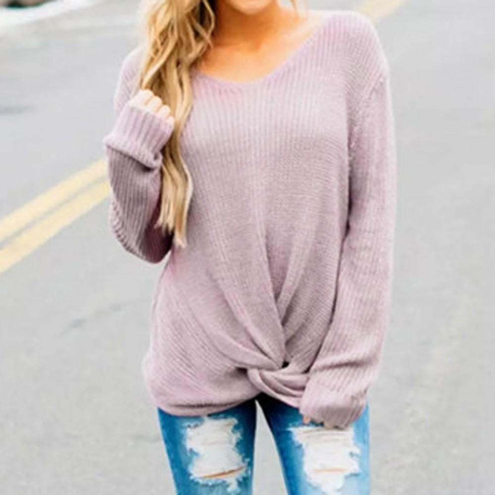 e73e49bdb22 2019 Autumn winter women s sweaters and sweaters Korean style long-sleeved  crop casual solid thin sweater sweaters sweter mujer