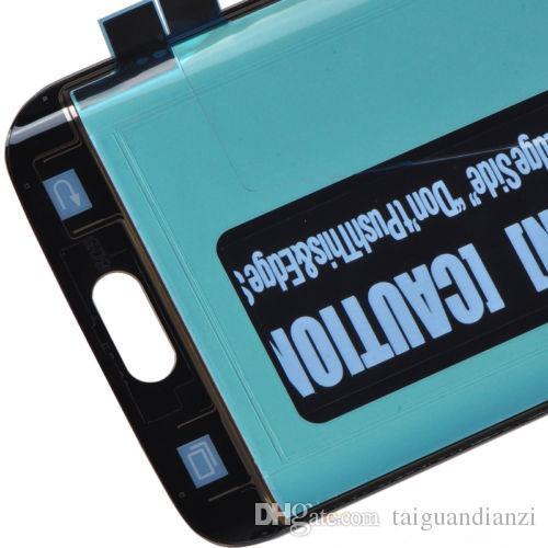 100% probado AMOLED teléfono LCD para Samsung Galaxy S6 Edge G925F G925A G925P pantalla LCD con Touch Digitizer Sticker