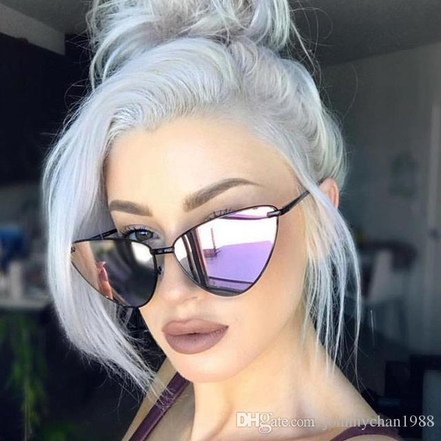 6e40a233a4 ROYAL GIRL 2018 New Sexy Cat Eye Sunglasses Women Brand Designer Fashion  Metal Frame Female Coating Mirror Shades Ss316 Cat Eye Sunglasses Round  Sunglasses ...