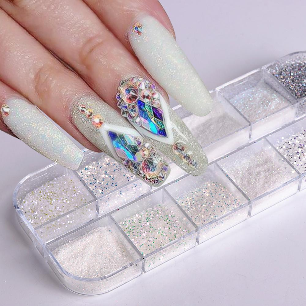 Candy Color Holographic Sugar Nail Glitter Powder Mermaid Sandy Dust
