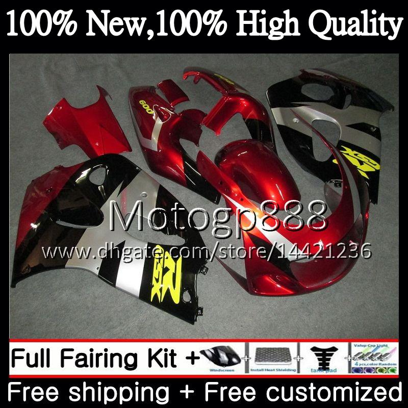Body Red GSXR-600 For SUZUKI SRAD GSXR600 96 97 98 99 00 GSXR-600 5XH54 GSXR 600 750 GSXR750 1996 1997 1998 1999 2000 Fairing Bodywork