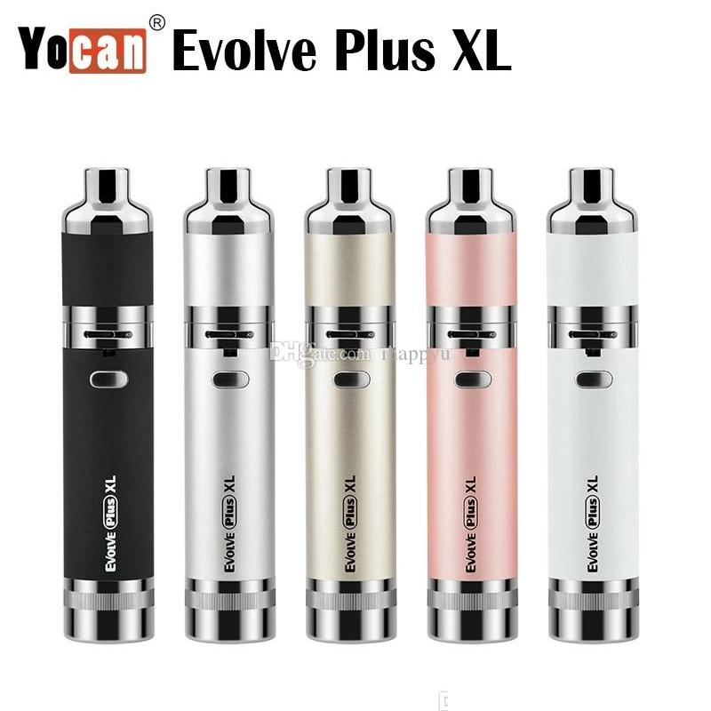 Authentic Yocan Evolve Plus XL Starter Kits Wax 1400mah Dab Pen Vaporizer Kit with Silicon Jar Quad Quartz Rod Coil 100% Genuine 2289019