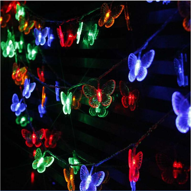 10m 50 leds butterfly led string lights ac110v220v outdoorindoor christmas lights holiday wedding party decoration battery operated string lights starry
