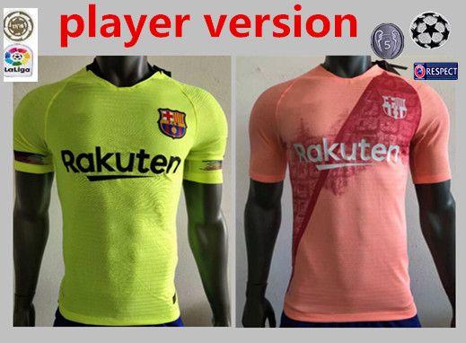 31989ca0b8 Compre Barcelona VIDAL SUAREZ O.DEMBELE Camisola 2018 2019 Camisas Coutinho  Messi Versão Do Jogador PIQUE Camisola De Futebol 18 19 Home Fora TERCEIRA  Pink ...