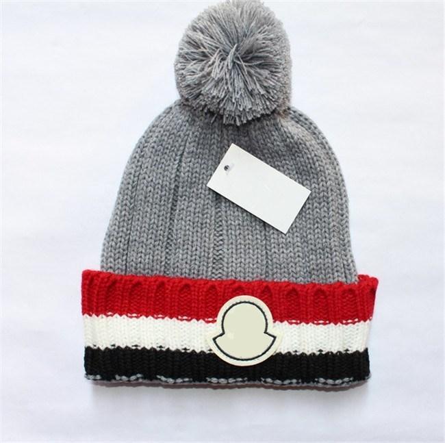 2018 New Luxury Pom Poms Knit Warm Cap Fashion Women Brand Designer Wool  Beanies Best Quality Soft Warm Hat Beanie Skull Cap For Good Gift Beanies  For Girls ... 65b0d1bdc0d