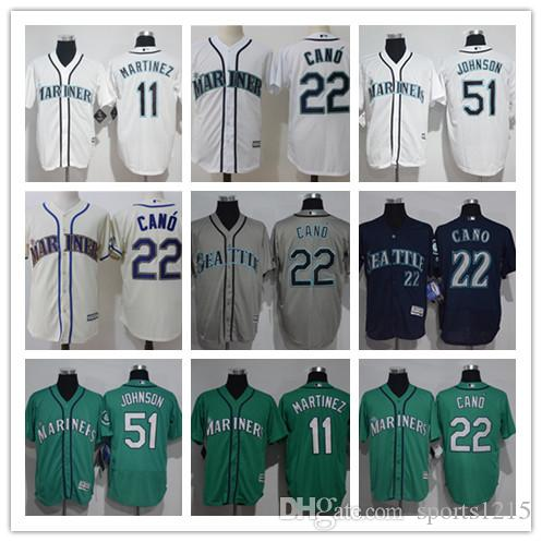 Custom Men s Women Youth Seattle Mariners Jersey  22 Robinson Cano 51 Ichiro  Suzuki Green White Grey Baseball Jerseys Seattle Mariners Baseball Jerseys  51 ... 72afef71f8