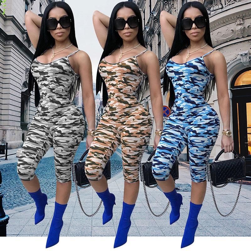 b6cc99cf8311 Acquista 2018 Abiti Donna Tuta Fionda Camouflage Leggings Sexy Vestiti  Discoteca Senza Maniche Pagliaccetti Bodycon Tuta Tuta Tuta i A  17.27 Dal  Fulary b ...