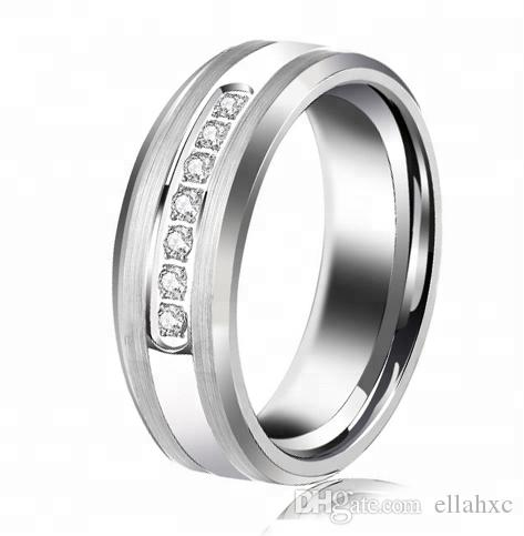 65a77fe9d 8mm Engagement Wedding Ring Men's Tungsten Carbide Ring Wedding Band  Wedding Ring Tungsten Carbide Ring Online with $10.77/Piece on Ellahxc's  Store ...