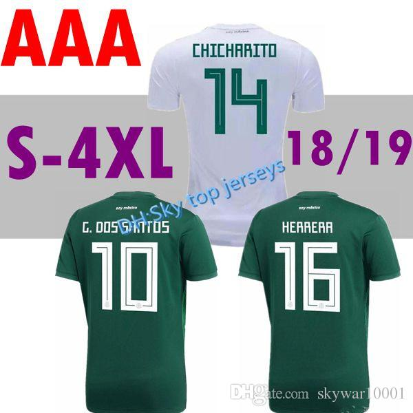 8cd3564a3 2019 2018 World Cup Soccer Jerseys Home Away G.DOSSANTOS C.VELA 18 19  CHICHARITO O.PERALTA National Mexico Soccer Uniform Kit Football Shirts  From ...