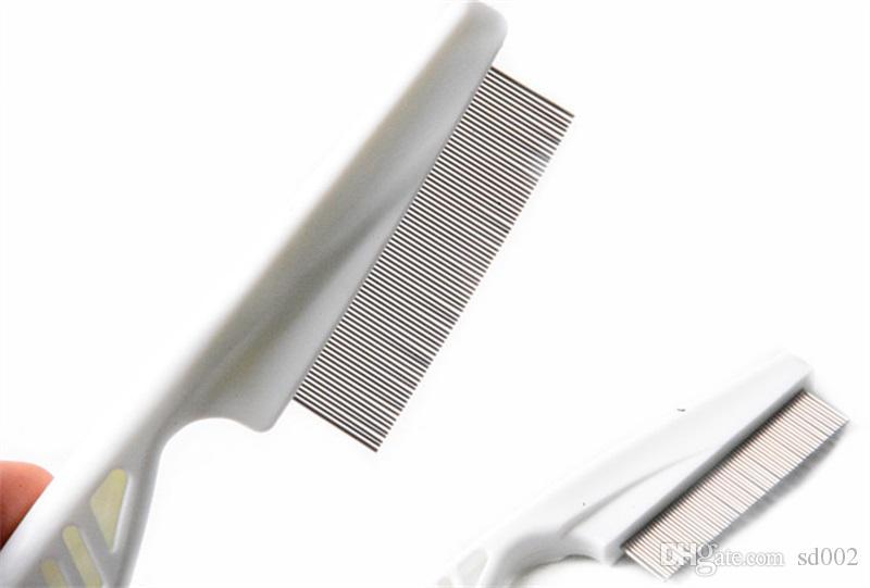 Plastic Pet Hair Flea Combs White Puppy Cat Grooming Comb Durable Dog Clean Tool 1 4wc C R