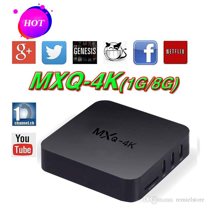 Rockchip Android TV Box MXQ PRO MXQ-4k RK3229 support H 265 4K 1080P HD  Streaming Media Player TV Boxes Remoted MXQ OTH107
