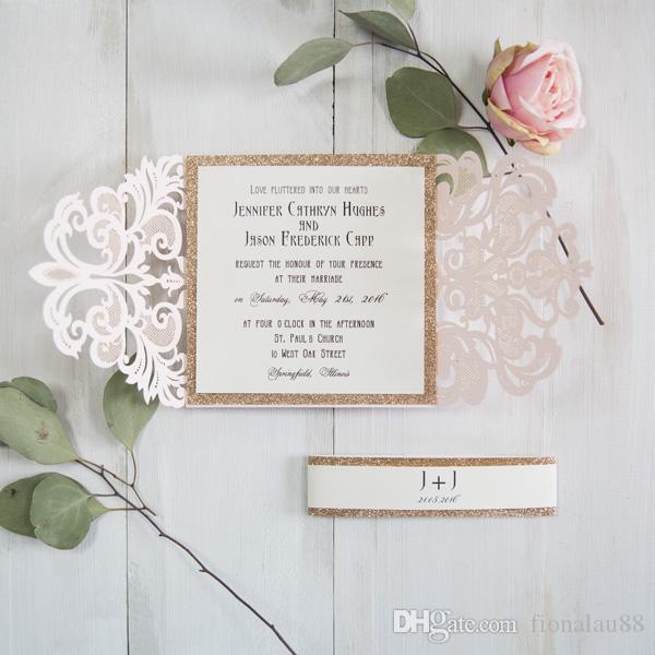 Convite De Casamento Tradicional Luz Rosa Convites De Casamento Com