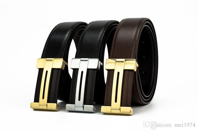 2018 Brand belt Genuine Leather Men Belt Designer Luxury High Quality H Smooth Buckle Mens Belts For Women Luxury belt Jeans Cow Stra