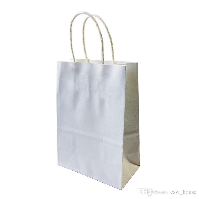 DIY Multifunction soft color paper bag with handles/ 21x15x8cm/ Festival gift bag /High Quality shopping bags kraft paper