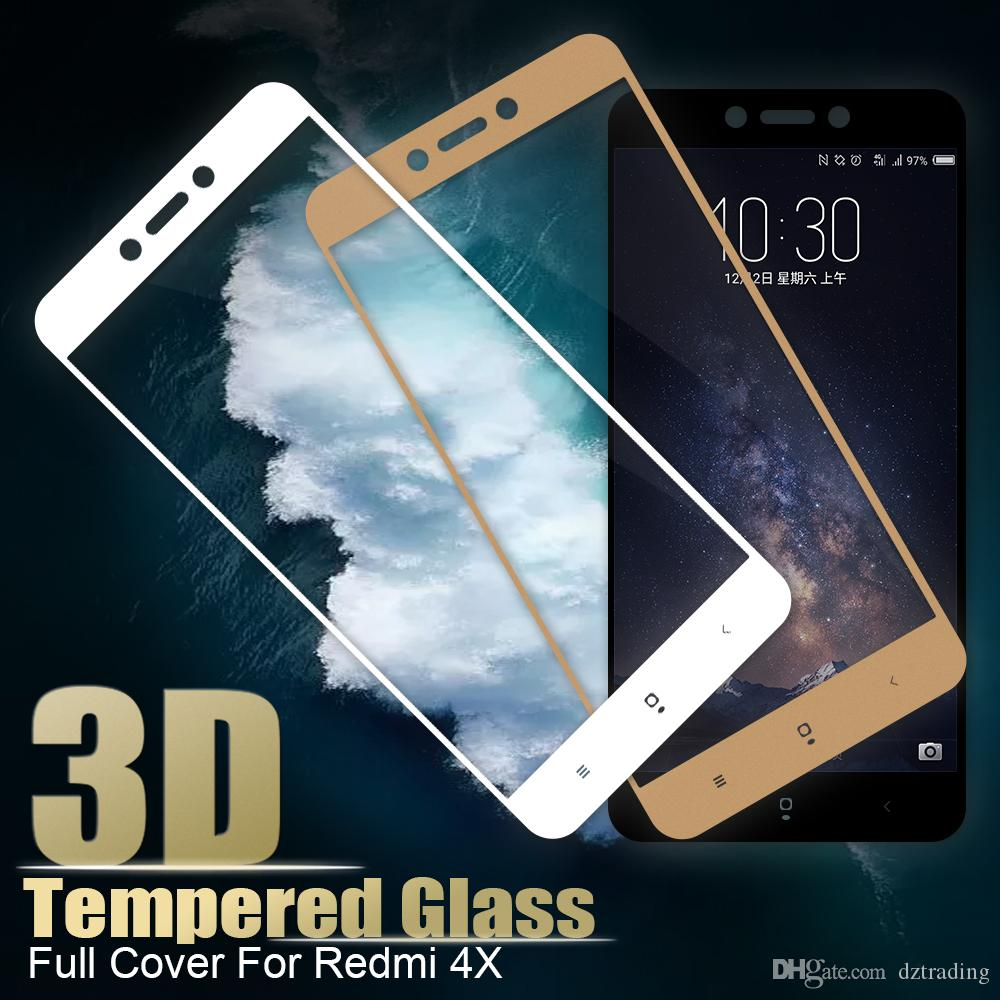 03mm Thin 3d Full Cover Screen Protector For Xiaomi Redmi 4x Note Tempered Glass Layar Pro