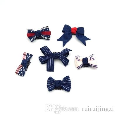 2018 new Pet Dog Hairpin Accessories Handmade Ribbon Grooming Hair Clips suit Hairpin suits combination c115