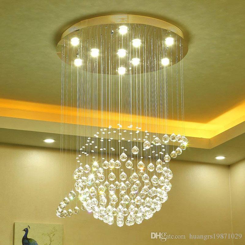 Led Plafonniers Gu10 K9 Avec Ampoules De Fixation Luminosité Cristal Éclairage 3 Luminaires Lustres Suspendus Claire NnwP8OZ0kX